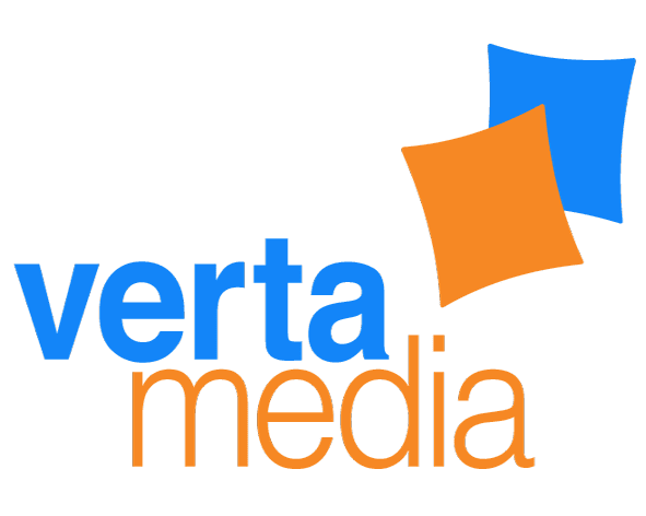 Logo of VertaMedia, SSP, who GeoEdge helps to stop unwanted video ads